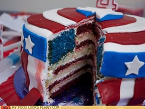 Captain America Cake is Patriotic