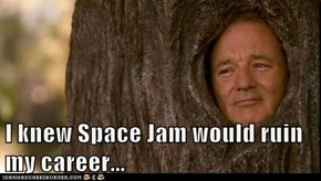 I knew Space Jam would ruin my career...