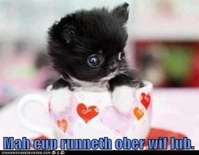 Mah cup runneth ober wif lub.