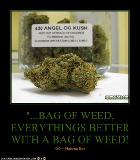 """...BAG OF WEED, EVERYTHINGS BETTER WITH A BAG OF WEED!"