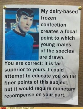 This Milkshake is Highly Illogical