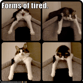 Forms of tired.