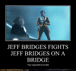 JEFF BRIDGES FIGHTS JEFF BRIDGES ON A BRIDGE
