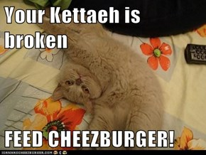 Your Kettaeh is broken  FEED CHEEZBURGER!