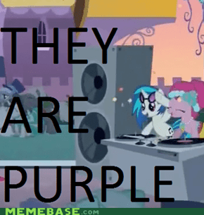 THEY ARE PURPLE, YOUR LOGIC IS INVAILD