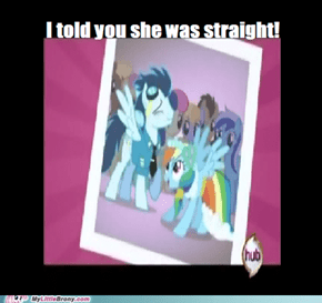Straight Rainbowdash has always been canon