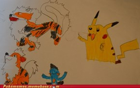 Best Pokemon-fanart by a 6 Years old ever!