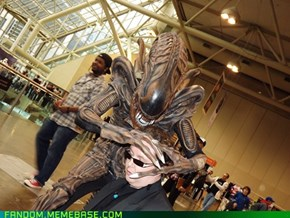 Alien Versus Convention-Goer