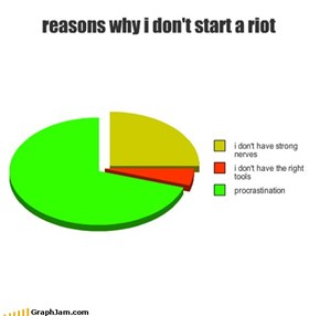 reasons why i don't start a riot