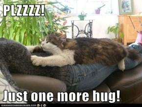 PLZZZZ!  Just one more hug!