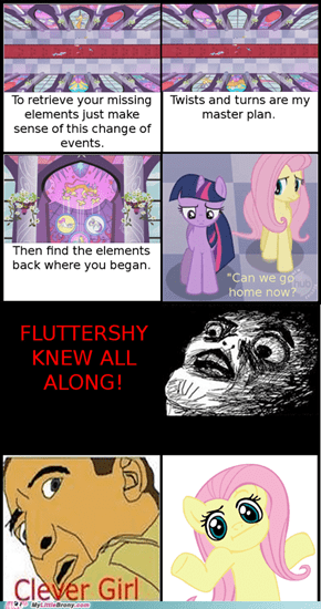 Fluttershy KNEW!