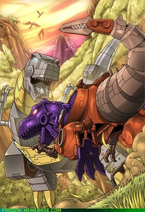 Grimlock Vs. Best Wars Megatron