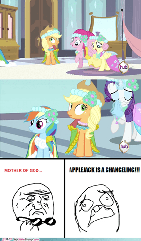 Applejack is a Changeling!