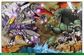Godzilla and Transformers WHAT ELSE DO YOU WANT!