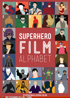 Superhero Film Alphabet