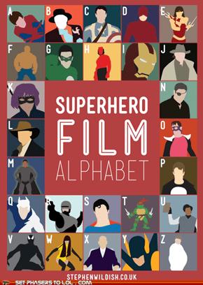 Superhero Film Alphabet