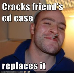 Cracks friend's cd case  replaces it