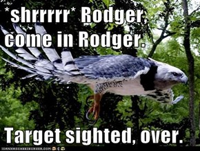 *shrrrrr* Rodger, come in Rodger.  Target sighted, over.