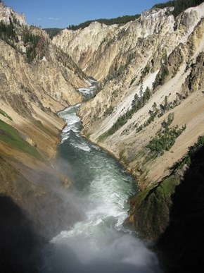 Lower Falls and the Grand Canyon of the Yellowstone, Wyoming