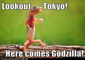 Lookout       Tokyo!  Here comes Godzilla!