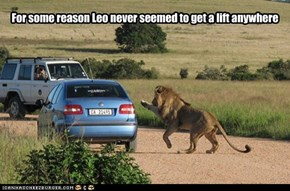 For some reason Leo never seemed to get a lift anywhere