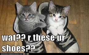 wat?? r these ur shoes??
