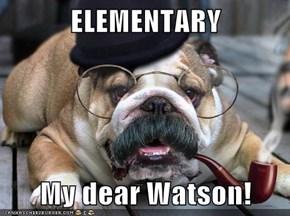 ELEMENTARY  My dear Watson!