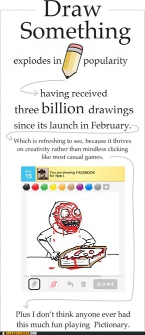 Sorry, I Can't Read This, Too Busy Playing Draw Something Instead of Working
