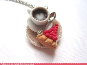 Cherry Cheesecake and Latte Necklace