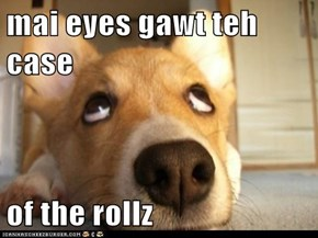 mai eyes gawt teh case  of the rollz