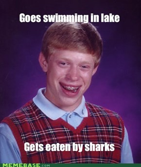 Bad Luck Brian Swimming