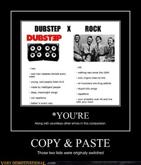 Rock > Dubstep