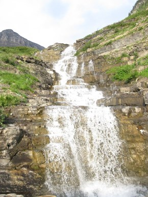 Waterfall on Going-to-the-Sun Road, Montana