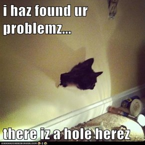 i haz found ur problemz...  there iz a hole herez