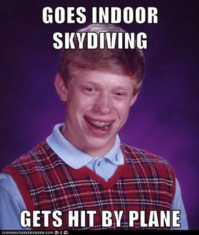 GOES INDOOR SKYDIVING