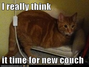 I really think  it time for new couch