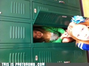 Locker Stalker Photobomb