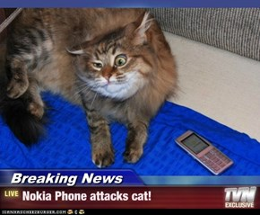 Breaking News - Nokia Phone attacks cat!