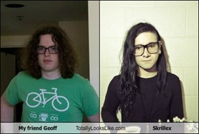 My friend Geoff Totally Looks Like Skrillex