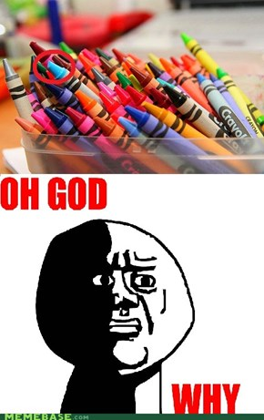 YES. All perfect crayons! Wait a second...