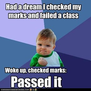 Had a dream I checked my marks and failed a class