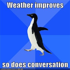 Weather improves  so does conversation