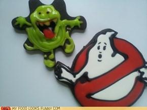 Slimer & Ghostbusters Cookies