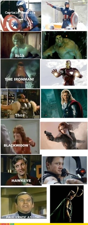 The Avengers: Then and Now