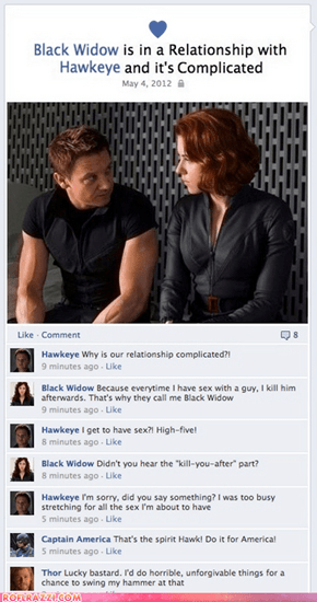 """Avengers"" Assemble on Facebook"