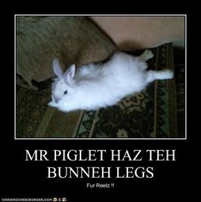 MR PIGLET HAZ TEH BUNNEH LEGS