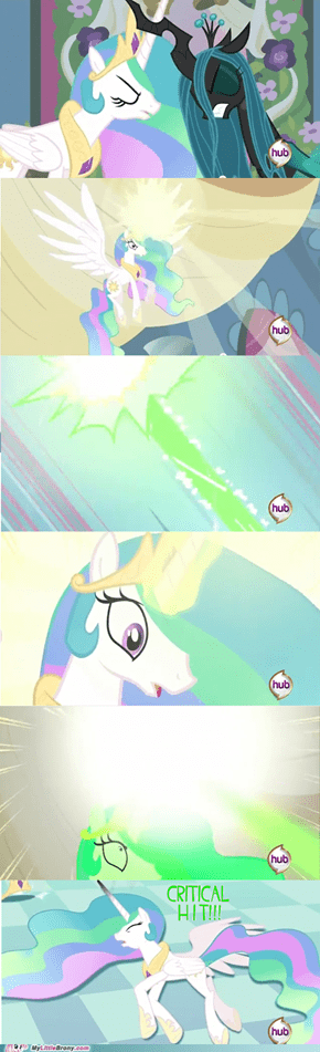 Why Celestia got defeated by One Hit