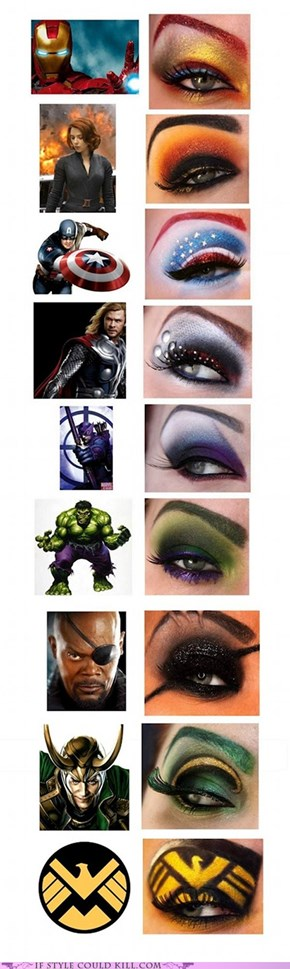 Avenger's Eye Makeup!