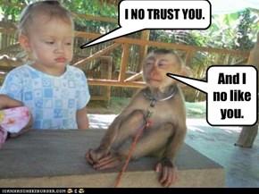 I NO TRUST YOU.