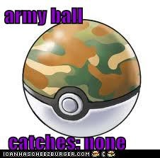 army ball   catches: none
